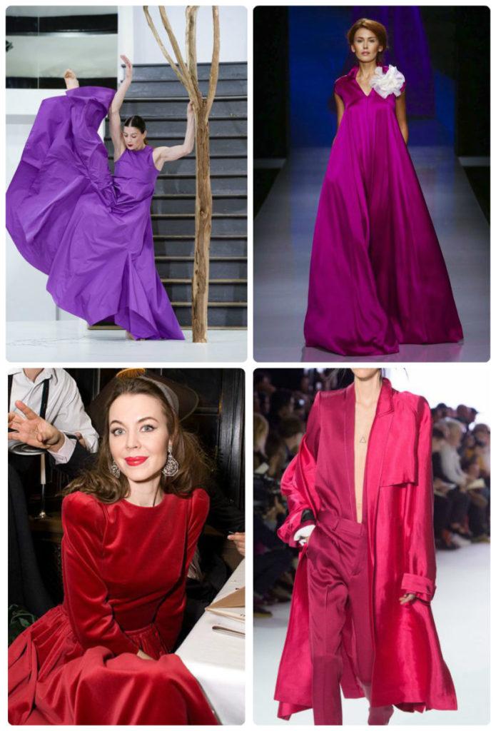 Контраст цветов, холодный и теплый, фиолетовый, красный