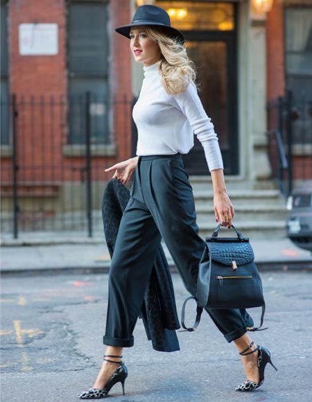 спорт-шик, классический стиль, черный рюкзак, девушка в шляпе, девушка с рюкзаком