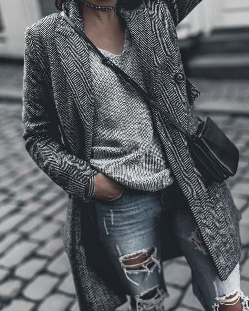 street style, серый, монохром, сочетание цветов