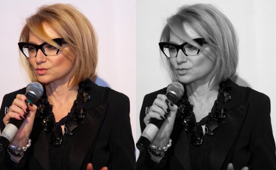 Контрастность внешности, контраст темного и светлого, Эвелина Хромченко, очки, экспертность