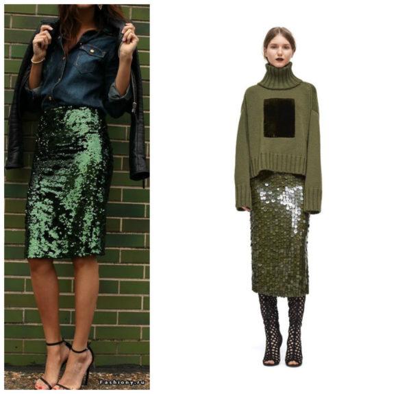 с чем носить юбку карандаш, юбка карандаш с чем носить фото, фото юбки карандаш, с чем носить юбку с пайетками, юбка с пайетками с чем носить фото