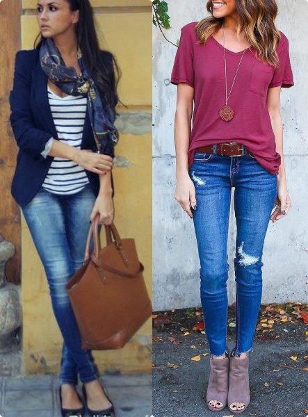 с чем носить джинсы, современные джинсы, модные джинсы, джинсы 2018