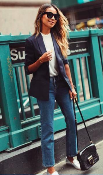 с чем носить джинсы, с чем носить джинсы фото, женские джинсы зимой, женские джинсы летом, завышенные джинсы с чем носить, с чем носить джинсы с высокой талией, джинсы с чем носить фото женские, джинсы пиджак
